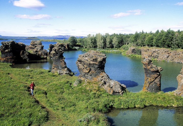 Lake Myvatn, Natural Lava Sculptures