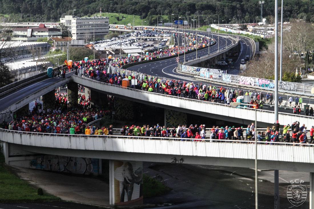 Lissabon Marathon bridge